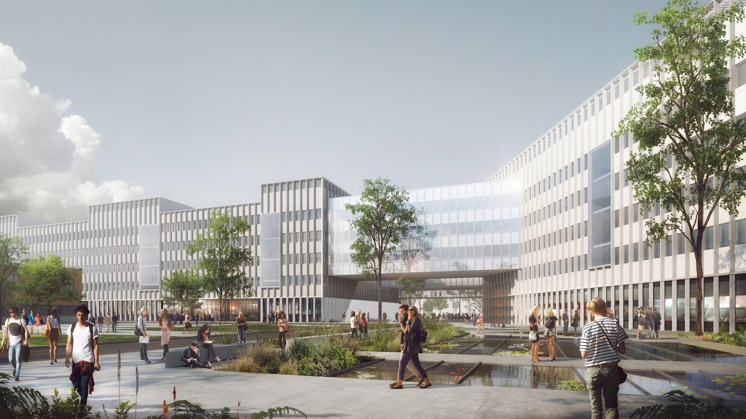 Grand chantier Île de France - Pôle Biologie – Pharmacie – Chimie à Saclay_Grand chantier en Île-de-France_Groupe-6 + BTuA architectes
